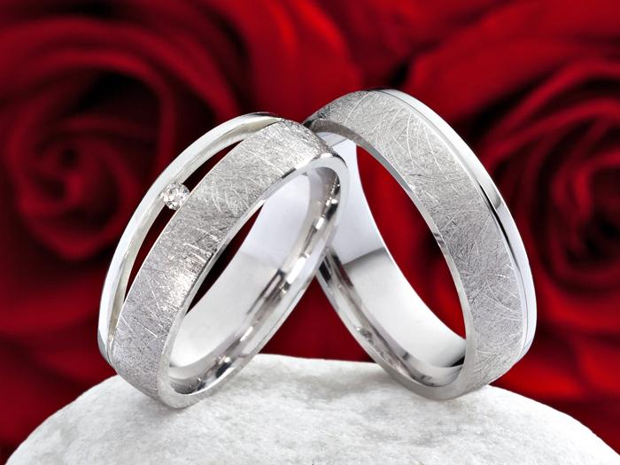 Bagues de fiançailles / Anneaux de mariage de 925 en argent sterling ...